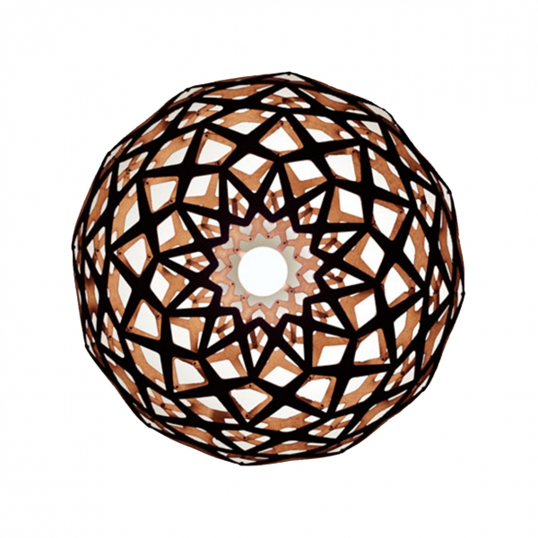 LATTICE COPPER PENDANT