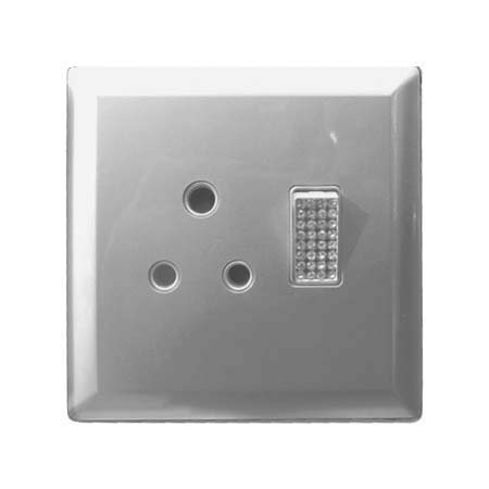 ALISA 4X4 SINGLE SOCKET SILVER -LEAR