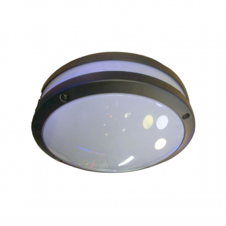 BLACK ROUND OUTDOOR ALUMINIUM FITTING- MCE
