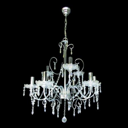 Polished Chrome with Crystals Chandelier