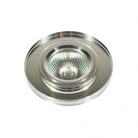 D101 ROUND ALU D/LIGHT WITH CRYSTAL- E/LUX