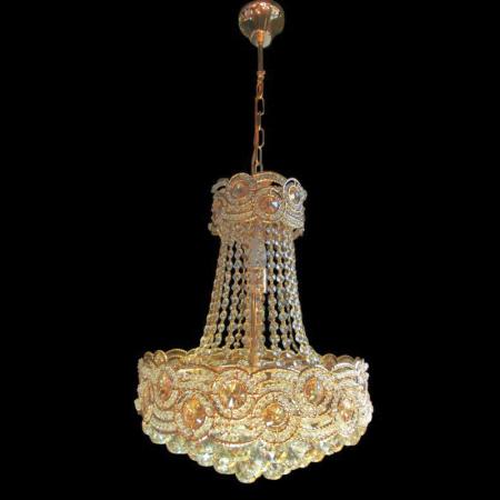 Gold Crystal Light Fitting