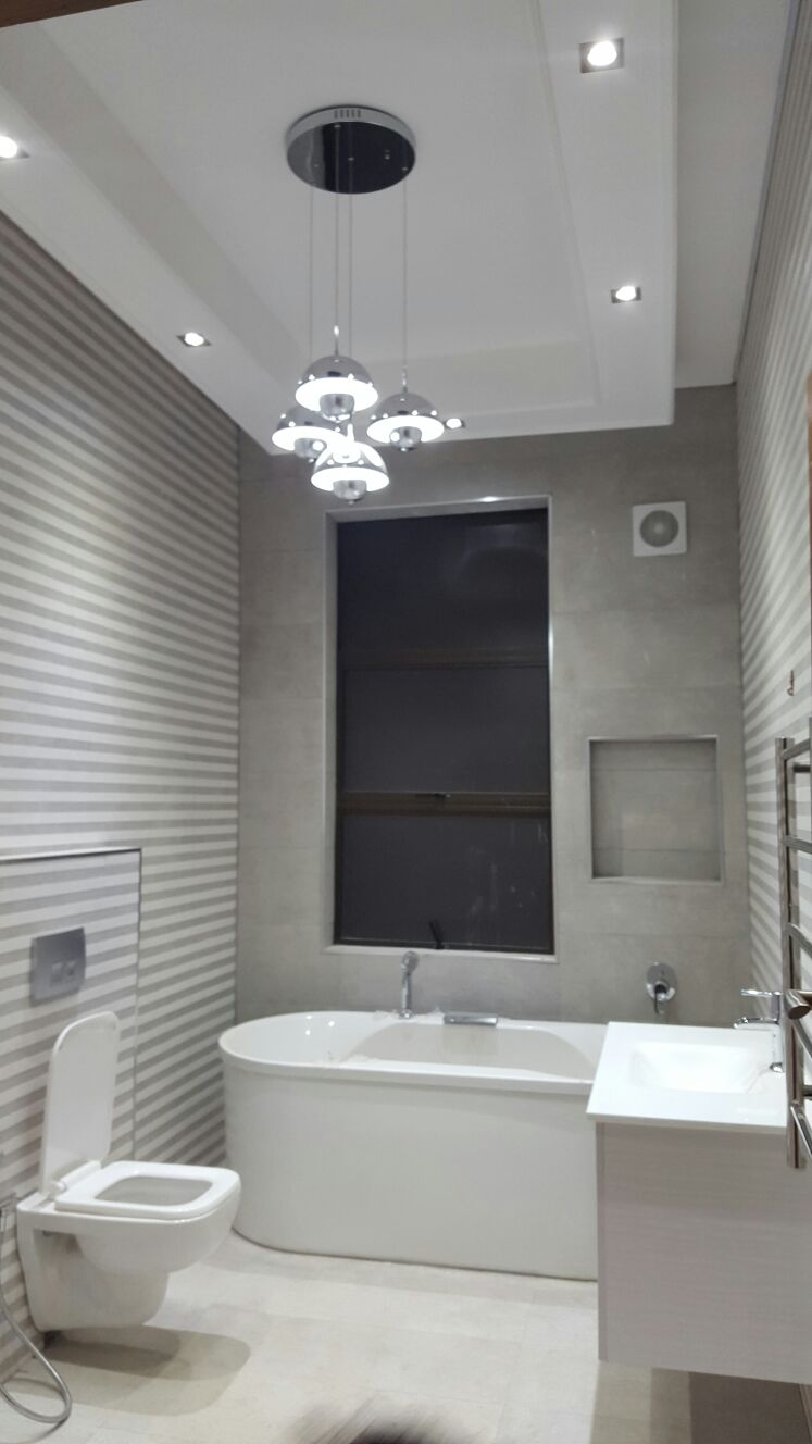 Thohira's Bath room Pendant and Down lights
